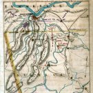 Chattanooga Tennessee Troop Locations 1863 Civil War map by Sneden