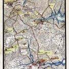March from Hampton to Yorktown Virginia 1862 Civil War map by Sneden