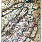 Plan Chickamauga Battle Tennessee 20 September 1863 Civil War map by Sneden