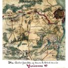 Positions of Union and Rebel Armies map Yorktown Civil War Canvas Sneden