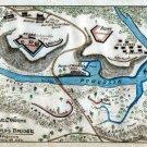 Rebel Works at Howard's Bridge Virginia 1862 Civil War map by Sneden