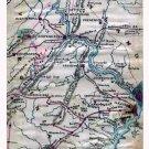 Virginia Maryland and Pennsylvania Potomac River Civil War map by Sneden