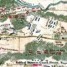 Battle of Hanover Court House Virginia 1862 Civil War map by Sneden
