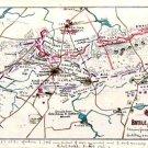 Battle Plan of Cold Harbor Virginia 1864 Civil War map by Sneden