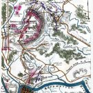 Battle Plan of Cumberland Church or Farmville Virginia 1865 Civil War map by Sneden