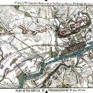 Battle Plan of Fredericksburg or Marye's Heights Virginia 1862 Civil War map by Sneden