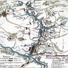 Beaver Dam Creek Battle Chickahominy River Virginia 1862 Civil War map by Sneden