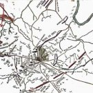 Chancellorsville Virginia General Stonewall Jackson Great Flank 1863 Civil War map by Sneden
