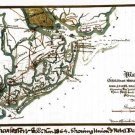 Charleston Harbor Union and Rebel Forts Batteries South Carolina 1863 Civil War map by Sneden