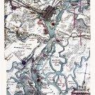 Defenses of Savannah Georgia 1864 Civil War map by Sneden