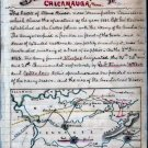 Missionary Ridge or Chickamauga Battle Tennessee 1863 Civil War map by Sneden