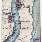 Mississippi Defenses below New Orleans Admiral Farragut Attack 1862 Civil War map by Sneden
