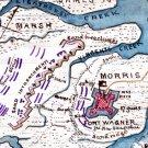 Plan Assault on Fort Ft Wagner July 1863 Civil War map by Sneden
