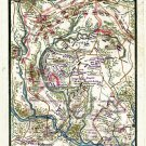 Plan Battle of Gaine's Mill Virginia 1862 Civil War map by Sneden
