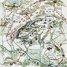 Plan of Gaines' Mill Battle Virginia 1862 Civil War map by Sneden