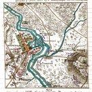Plan of Kelly's Ford Battle or Kellysville Virginia 1863 Civil War map by Sneden