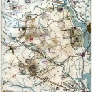 Positions of Union and Rebel Forces September 1861 Civil War map by Sneden