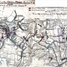 Sailor's Creek Battle Pursuit of Rebel Army Virginia 1865 Civil War map by Sneden