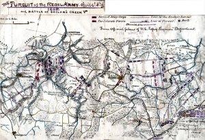 Sailor's Creek Battle Pursuit of Rebel Army Virginia 1865 ... on georgia virginia map, colonial virginia map, fredericksburg va map, central virginia state map, county of va counties map, virginia meissner trail map, columbia gas of virginia map, slavery in 1860 virginia map, united states virginia map, battle of chancellorsville virginia map, american flag virginia map, manakin town virginia map, battle of richmond virginia map, california virginia map, 5 regions virginia map, petersburg virginia state map, hwy 58 virginia map, powell river virginia map, aquia creek virginia map, new york virginia map,
