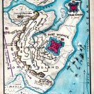 Siege of Fort Wagner Morris Island Charleston Harbor South Carolina 1863 Civil War map by Sneden