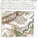General Thomas New Position Missionary Chickamauga Civil War Map Canvas Sneden