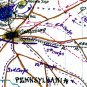 Union Army March on Gettysburg Pennsylvania from Frederick Maryland 1863 Civil War map by Sneden