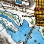 Union Forts Batteries Alexandria Fort Lyon 1862 Civil War map by Sneden