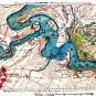 Union Position Harrison's Landing Gunboats Virginia 1862 Civil War map by Sneden