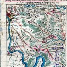 Union Rebel White Oak Swamp Creek Virginia 1862 Civil War map by Sneden