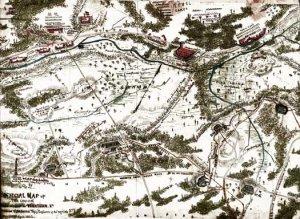 Union Works in Front of Yorktown Virginia 1862 Civil War map by Sneden