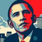 Pres. Barack Obama Manifest Hope canvas art print not Shepard Fairey