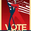 President Barack Obama Vote poster art print not by Shepard Fairey