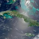 Cuba Cuban satellite view map photo photograph art print by NASA