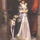 An Elegant Lady with Greyhound dog woman canvas art print by Florent Willems