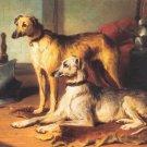 Scottish Greyhounds dog canvas art print by Conradyn Cunaeus