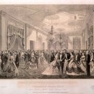 White House reception 2th. inauguration Pres. Lincoln carvas art print