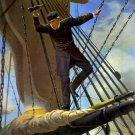 Naval Flagship Hartford Admiral Farragut Civil War art print by Prang