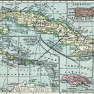Caribbean Central America Cuba Cuban Puerto Porto Rico Jamaica map 1916 by Matthews