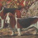 Beagle and Basset Hound dog canvas art print by Louis Agassiz Fuertes