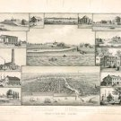 Chicago in Early Days 1779-1857 Illinois art print by Kurz and Allison