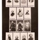 Confederate Dead stamps Civil War art photo portrait print poster by Mathew Brady