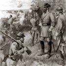 General Thomas Stonewall Jackson Bull Run 1861 Civil War art print by Jones Bros