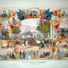 Fifteenth Amendment Constitution 1870 poster art print by James C. Beard