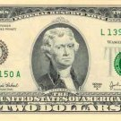 US Two Dollar $2 bank note banknote photo photograph art print