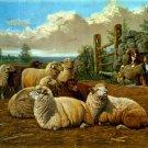 The Faithful Shepherds 1897 sheep dog domestic animal canvas art print by Arthur Fitzwilliam Tait