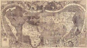 Universalis Cosmographia world map 1507 by Martin Waldseemüller