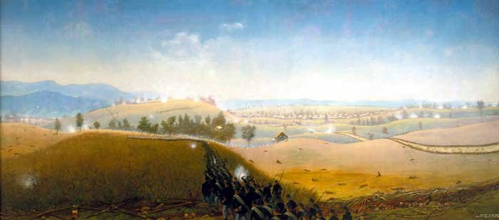 Wasted Gallantry Battle of Antietam Civil War canvas art print by Captain James Hope