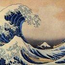The Big Wave Off Kanagawa japanese asian canvas art print by Katsushika Hokusai