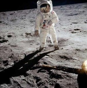 First Moon Walk Commander Neil Armstrong Apollo 11 1969 photo photograph art print