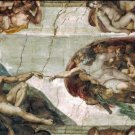 The Creation of Adam 1511 canvas art print by Michelangelo